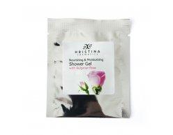 Prírodný výživný a hydratačný sprchovací gél bulharská ruža 5 ml