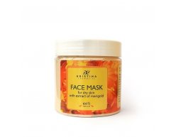 Přírodní maska na obličej pro suchou pleť s výtažkem z měsíčku lékařského 200 ml