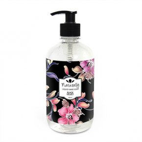Natürliche Flüssigseife zum Händewaschen Schwarzer Samt 500 ml