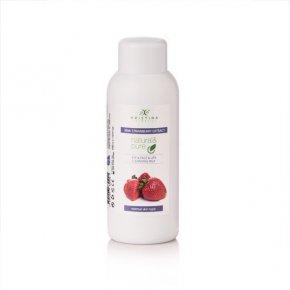 Přírodní čistící pleťové mléko na oči, tvář a rty - jahoda 150 ml
