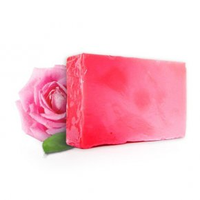 Přírodní ručně vyrobené mýdlo s olejem z bulharské růže 100 gr