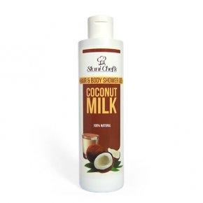 Prírodný sprchový gél na vlasy a telo kokosové mlieko 250 ml