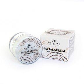 Naturalne wygładzające serum do twarzy z wyciągiem ze ślimaka 25 ml