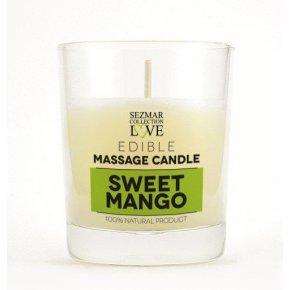 Prírodná masážna sviečka mango 100 ml