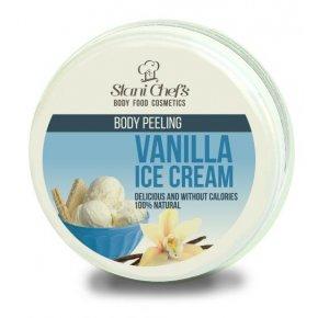 Přírodní tělový peeling vanilková zmrzlina na bázi mořské soli 250 ml