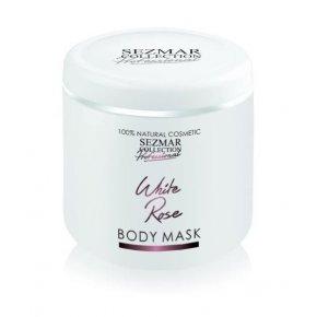 Prírodná maska na tvár a telo biela ruža 500 ml