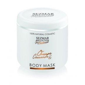 Přírodní maska na tělo a obličej pomeranč & skořice 500 ml