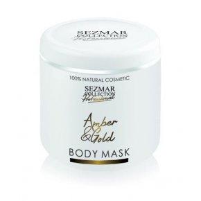 Prírodná maska na tvár a telo jantar a zlato 500 ml