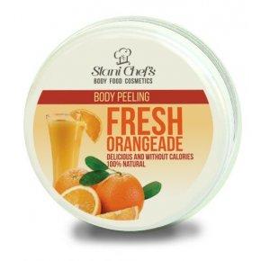 Přírodní tělový peeling čerstvá oranžáda 250 ml