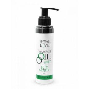 Přírodní masážní olej icy mojito 100 ml