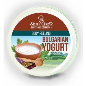 Přírodní tělový peeling bulharský jogurt na bázi mořské soli 250 ml