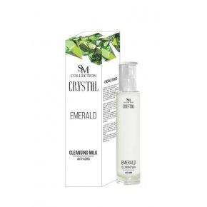 Natürliche Anti-Aging-Reinigungsmilch für Augen, Gesicht und Lippen – Smaragd 100 ml
