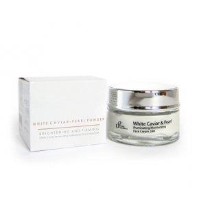 Natürliche aufhellende 24-Stunden-Feuchtigkeitscreme weißer Kaviar & Perle 50 ml