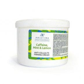 Naturalny krem antycellulitowy modelujący z kofeiną, miętą i cytryną 500 ml