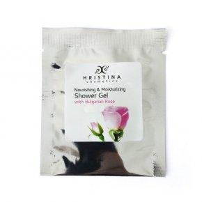 Natürliches nährendes und feuchtigkeitsspendendes Duschgel mit bulgarischer Rose 5 ml