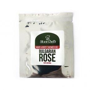 Přírodní sprchový gel na vlasy a tělo bulharská růže 5 ml
