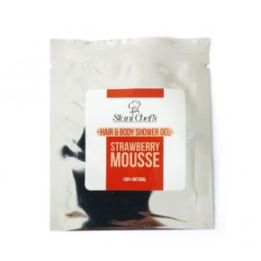 Natürliches Duschgel für Haut und Haar Erdbeermousse 5 ml
