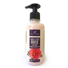 Prírodný krém na ruky a nohy s bulharským ružovým olejom 250 ml