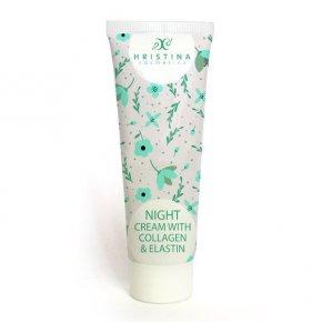 Přírodní noční krém s kolagenem a elastinem 100 ml