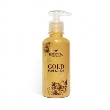 Natürliche Körpermilch mit Goldpartikeln 200 ml