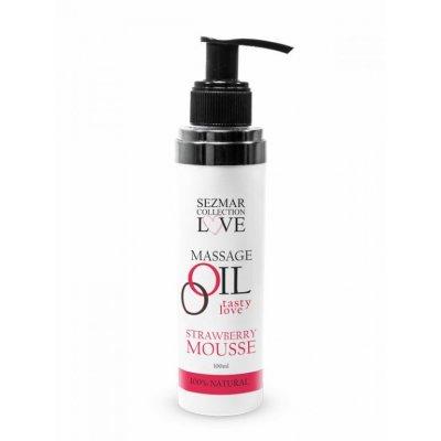 Přírodní masážní olej jahoda 100 ml