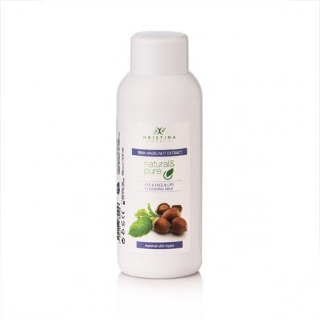 Prírodné čistiace pleťové mlieko na oči, tvár a pery - lieskový orech 150 ml