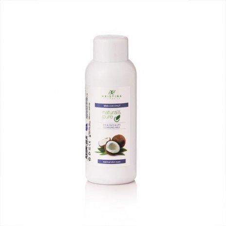 Naturalne mleczko oczyszczające do oczu, twarzy i ust – kokos 150 ml