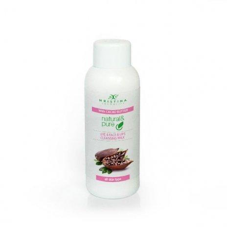 Natürliche Hautreinigungsmilch für Augen, Gesicht und Lippen – Kakaobutter 150 ml