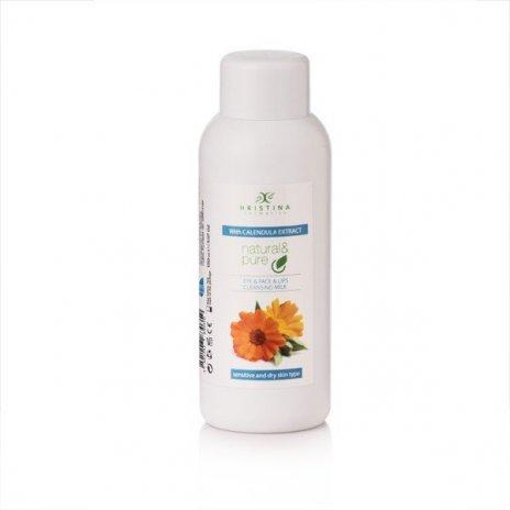 Natürliche Hautreinigungsmilch für Augen, Gesicht und Lippen – Ringelblume 150 ml