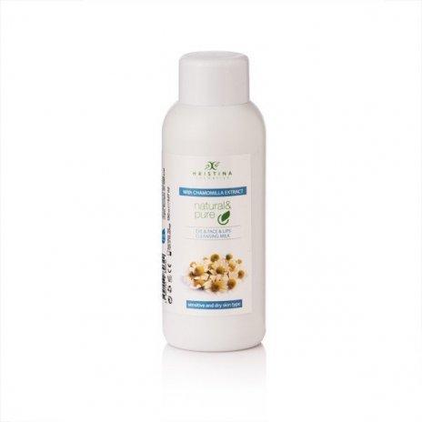 Naturalne mleczko oczyszczające do oczu, twarzy i ust – rumianek 150 ml