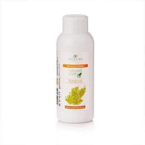 Naturalne mleczko oczyszczające do oczu, twarzy i ust - akacja 150 ml