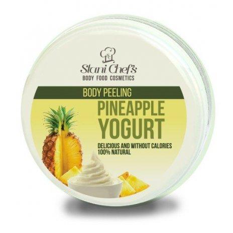 Přírodní tělový peeling jogurt s ananasem na bázi mořské soli 250 ml