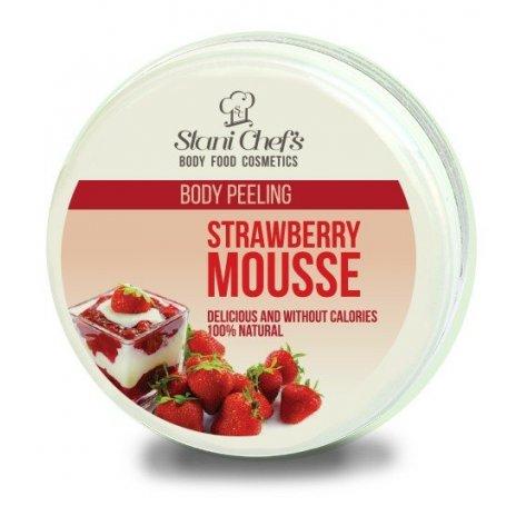 Natürliches Körperpeeling Erdbeermousse auf Meersalzbasis 250 ml