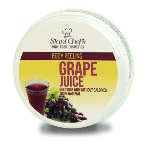 Naturalny peeling do ciała na bazie soli morskiej sok winogronowy 250 ml