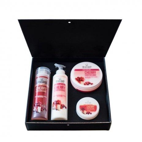 Zestaw naturalnych kosmetyków o zapachu tortu czereśniowego 850 ml