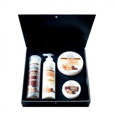 Zestaw naturalnych kosmetyków o zapachu ciasteczka czekoladowego 850 ml
