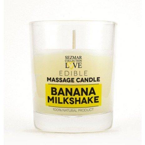 Prírodná masážna sviečka banán 100ml