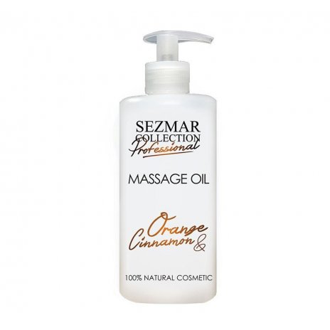 Prírodný masážny olej pomaranč & škorica 500 ml