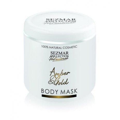Přírodní maska na tělo a obličej jantar a zlato 500 ml