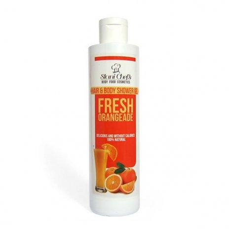 Prírodný sprchový gél na vlasy a telo čerstvá oranžáda 250 ml