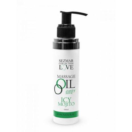 Prírodný masážny olej mäta pieporná icy mojito 100 ml
