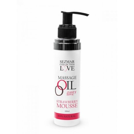 Prírodný masážny olej jahoda 100ml