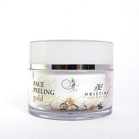 Naturalny peeling do twarzy z cząsteczkami złota 100 ml