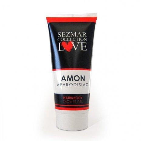 Prírodný sprchový gél na vlasy a telo s afrodiziakami amon 200 ml