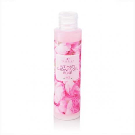 Přírodní intimní sprchový gel s růží 125 ml