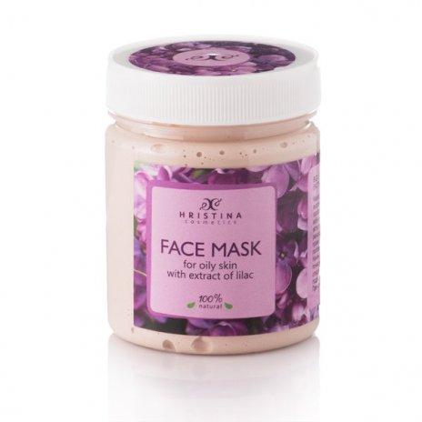 Natürliche Maske für fettige Haut mit Fliederextrakt 200 ml