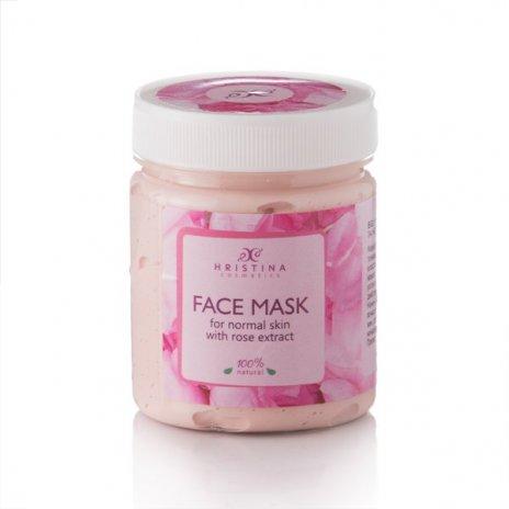 Natürliche Gesichtsmaske mit Rosenextrakt 200 ml