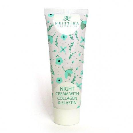 Natürliche Nachtcreme mit Kollagen und Elastin 100 ml