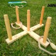 Hra dřevěné kroužky - hod na cíl