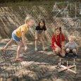 Hra dřevěné kroužky pro děti - hod na cíl